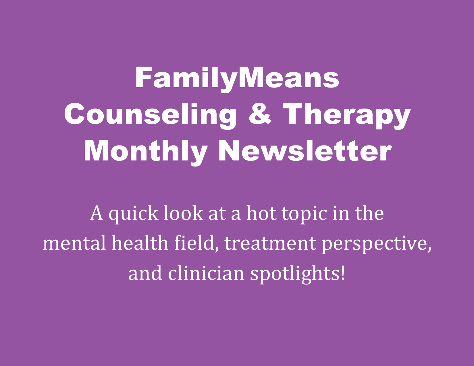 Counseling & Therapy Newsletter October 2020